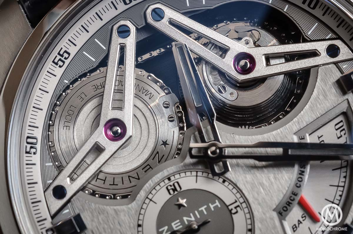 Zenith Academy Georges Favre-Jacot Titanium fusee chain - detail fusee chain