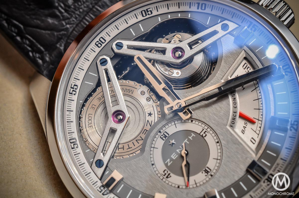 Zenith Academy Georges Favre-Jacot Titanium fusee chain - dial and hands
