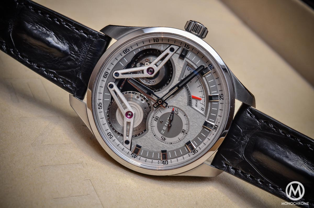 Zenith Academy Georges Favre-Jacot Titanium fusee chain - full case