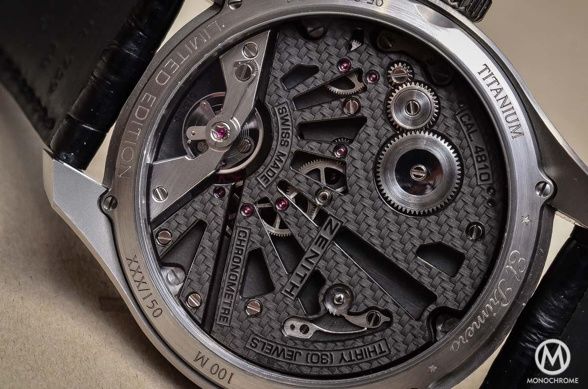 Zenith Academy Georges Favre-Jacot Titanium fusee chain - movement detail