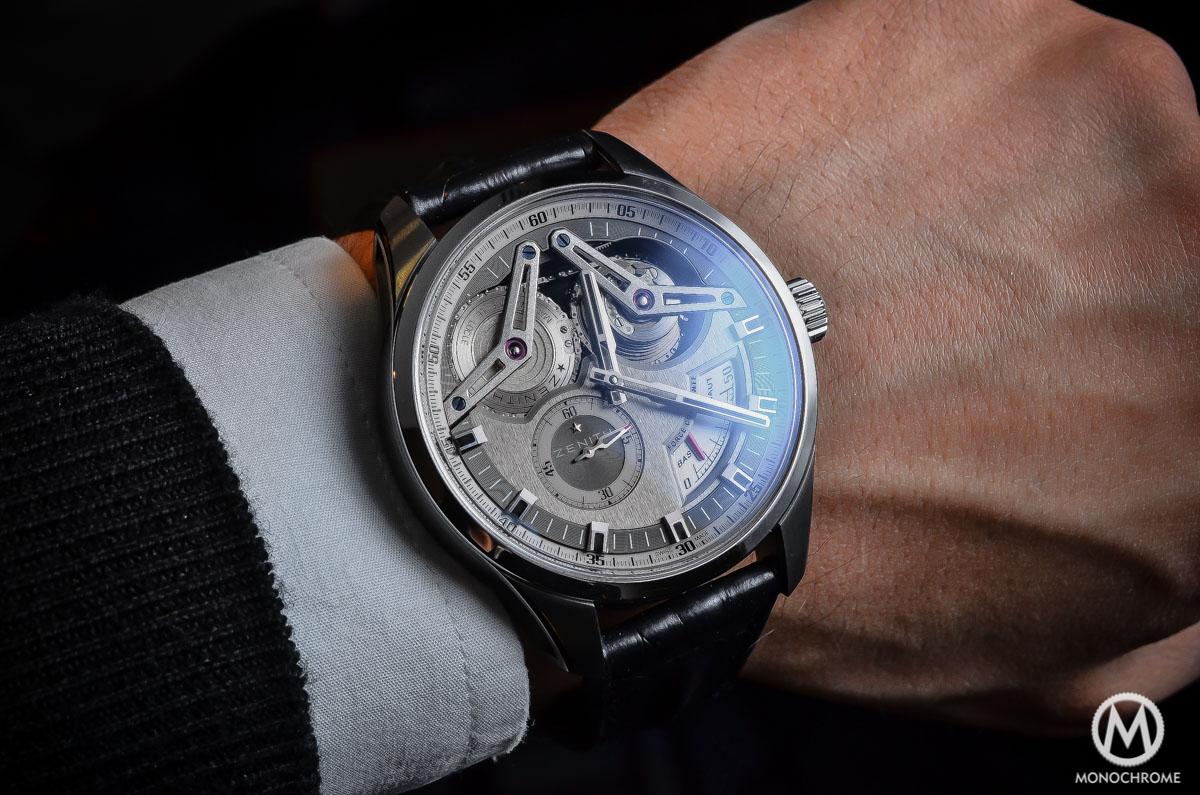 Zenith Academy Georges Favre-Jacot Titanium fusee chain - wristshot