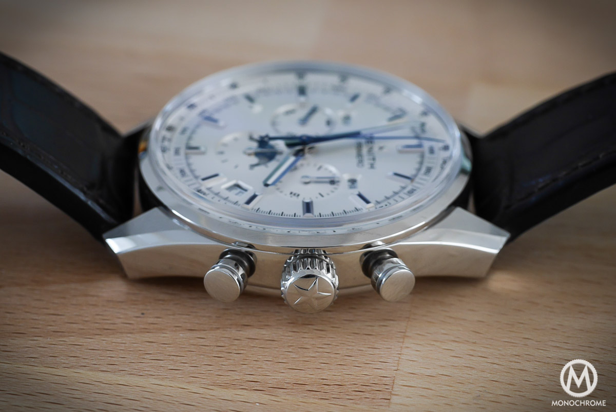 Zenith El Primero 410 Triple Calendar and MoonPhase Chronograph - casebands, crown & pushers
