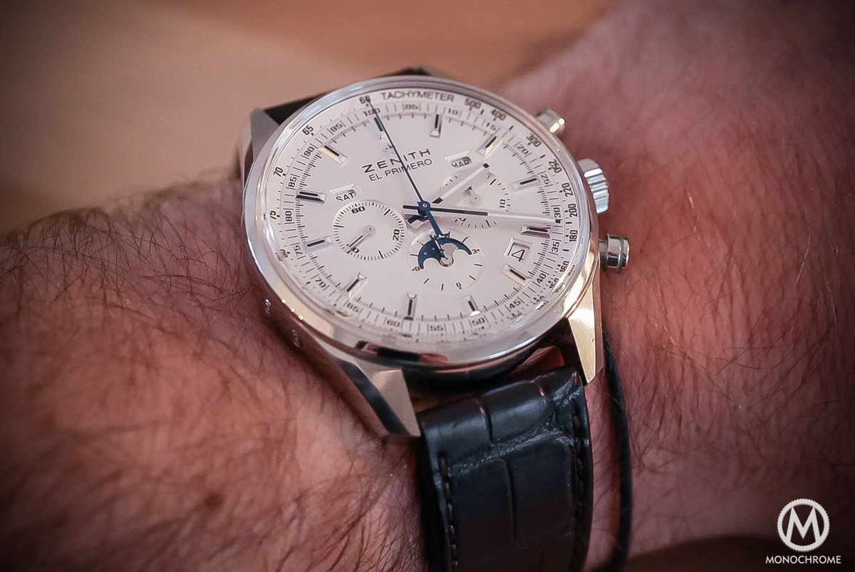 Zenith El Primero 410 Triple Calendar and MoonPhase Chronograph - Wristshot