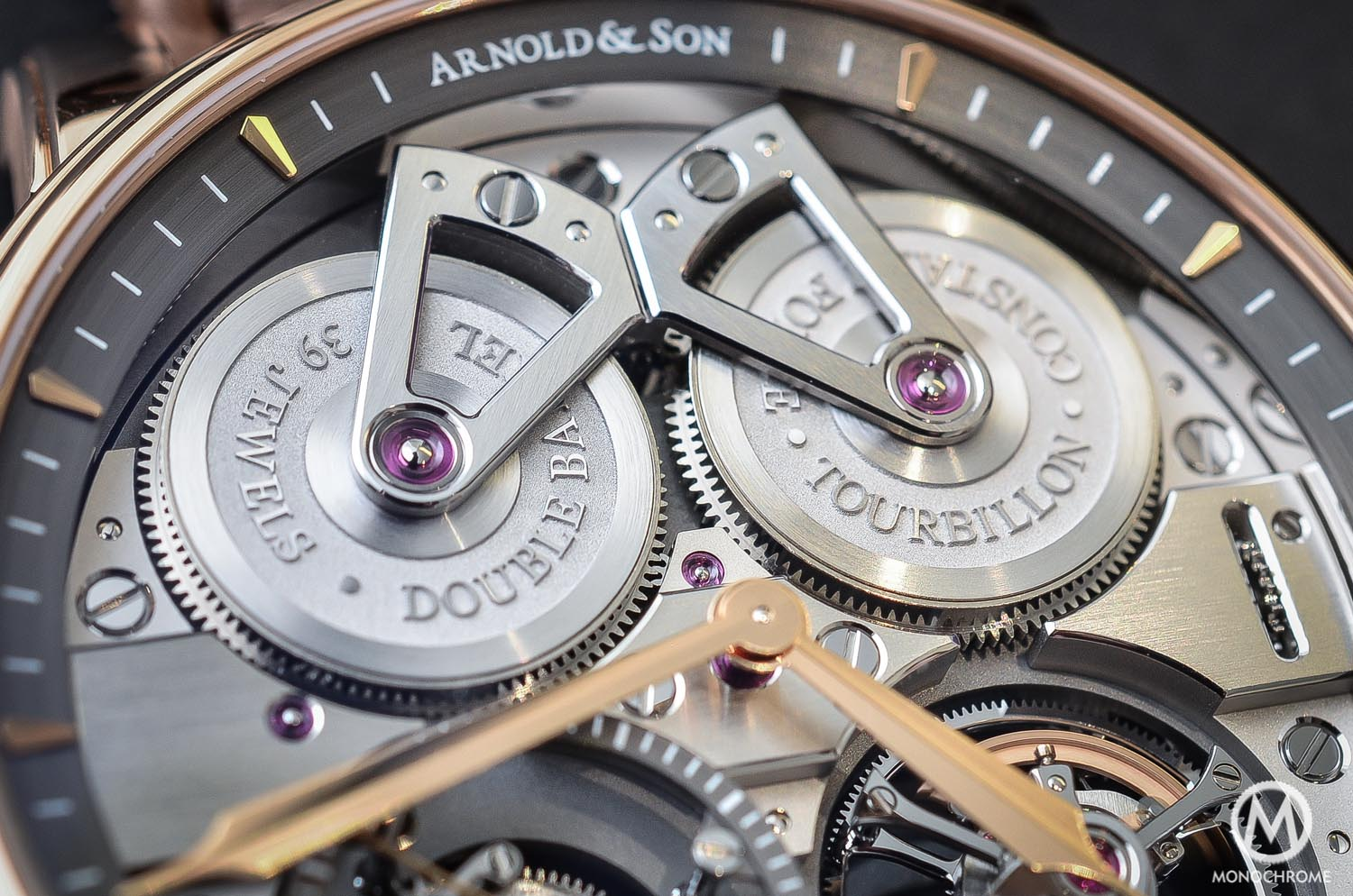 Arnold and Son Constant Force Tourbillon - hands-on review - double barrel