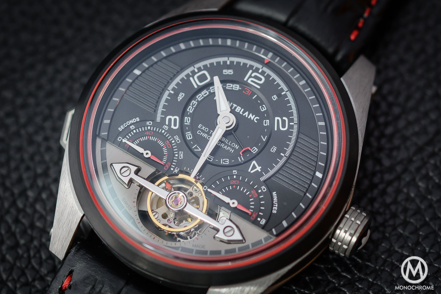 Montblanc TimeWalker ExoTourbillon Minute Chronograph LE100 close up