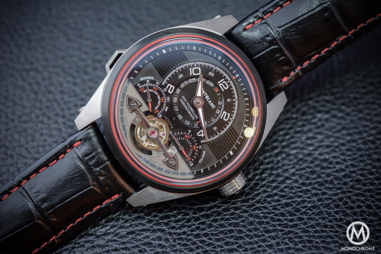 Montblanc TimeWalker ExoTourbillon Minute Chronograph LE100 dial