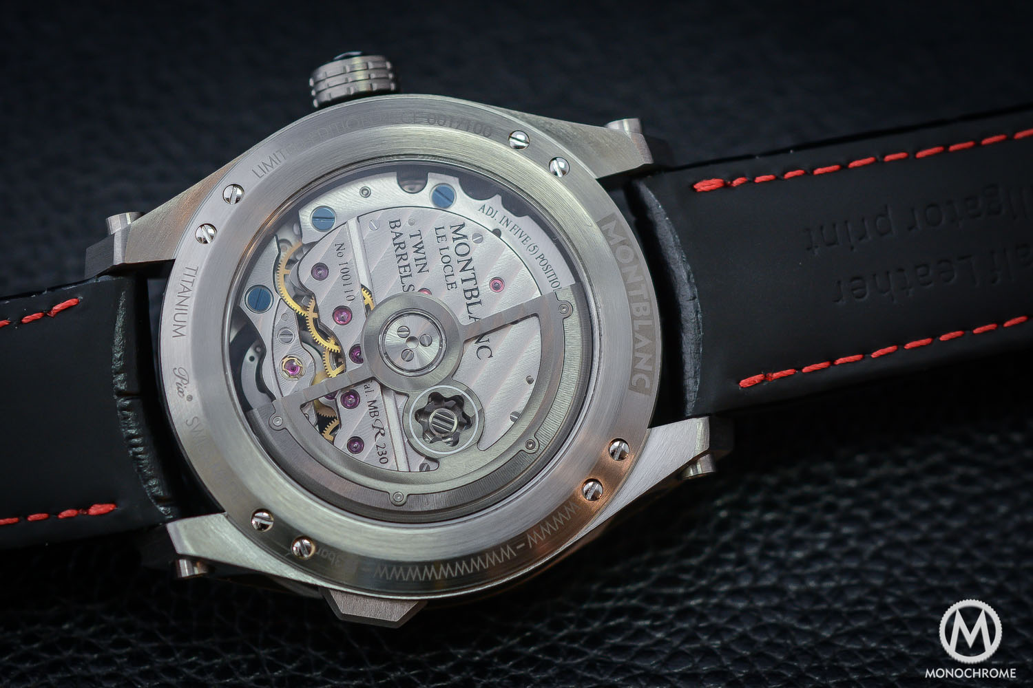 Montblanc TimeWalker ExoTourbillon Minute Chronograph LE100 movement