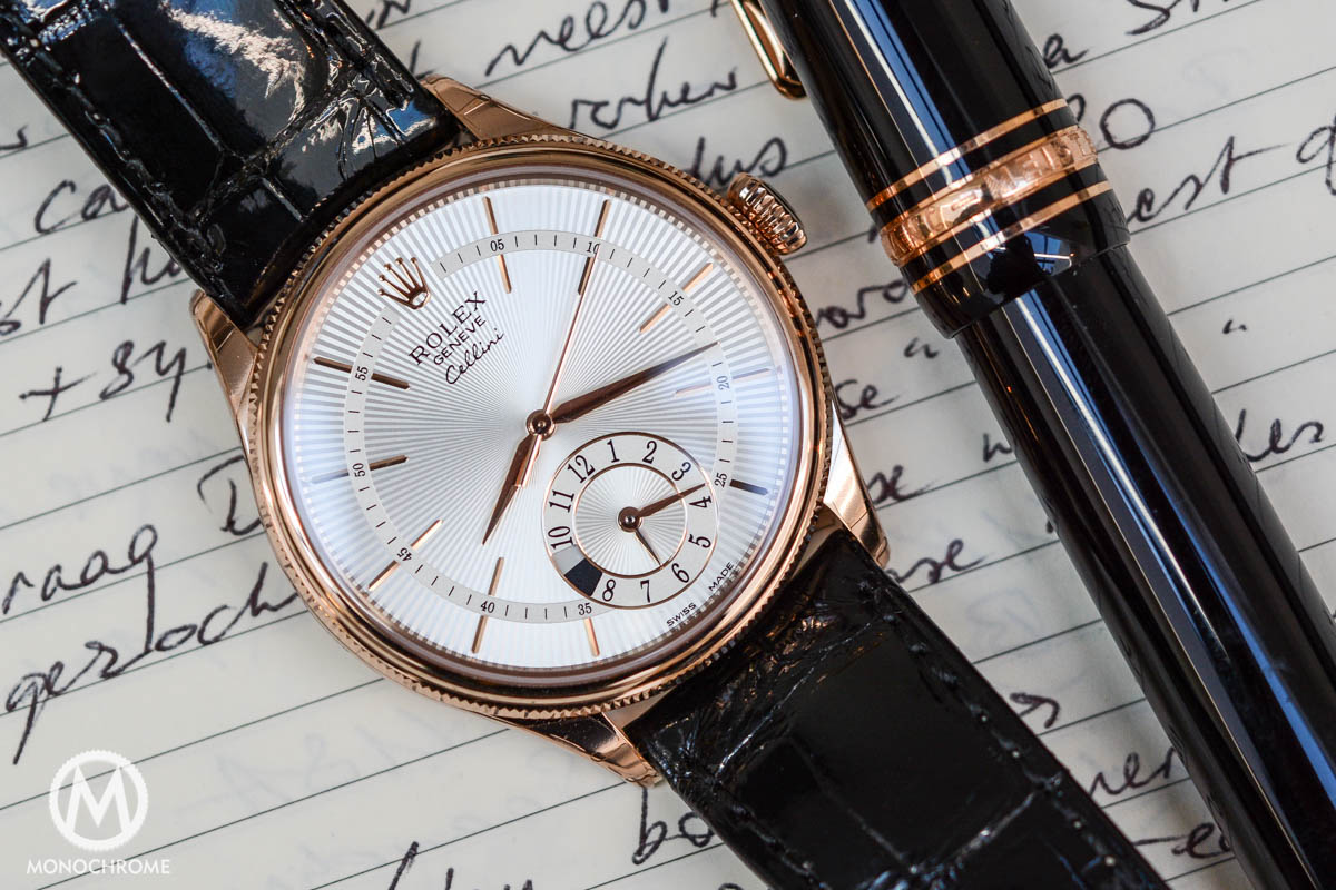 Rolex Cellini Dual Time everose gold ref. 50525 - dial detail