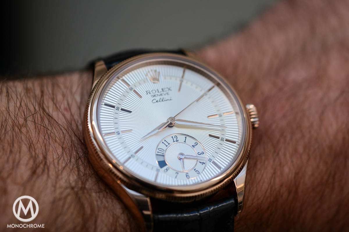 Rolex Cellini Dual Time everose gold ref. 50525 - on the wrist