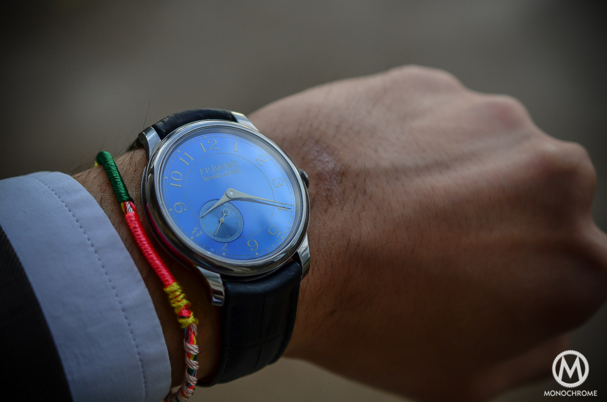 FP Journe Chronometre Bleu - on the wrist