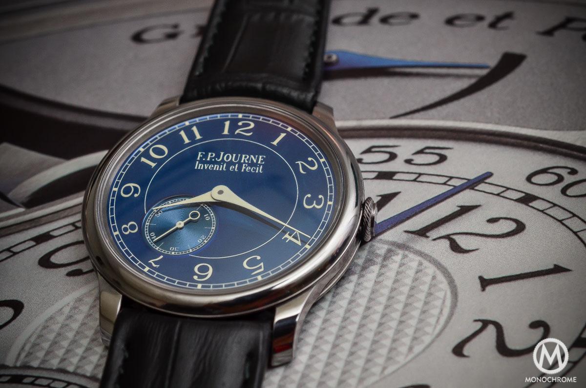 FP Journe Chronometre Bleu - dial and hands