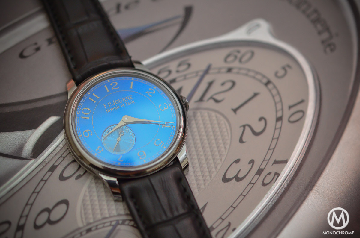 FP Journe Chronometre Bleu - dial and tantalum case