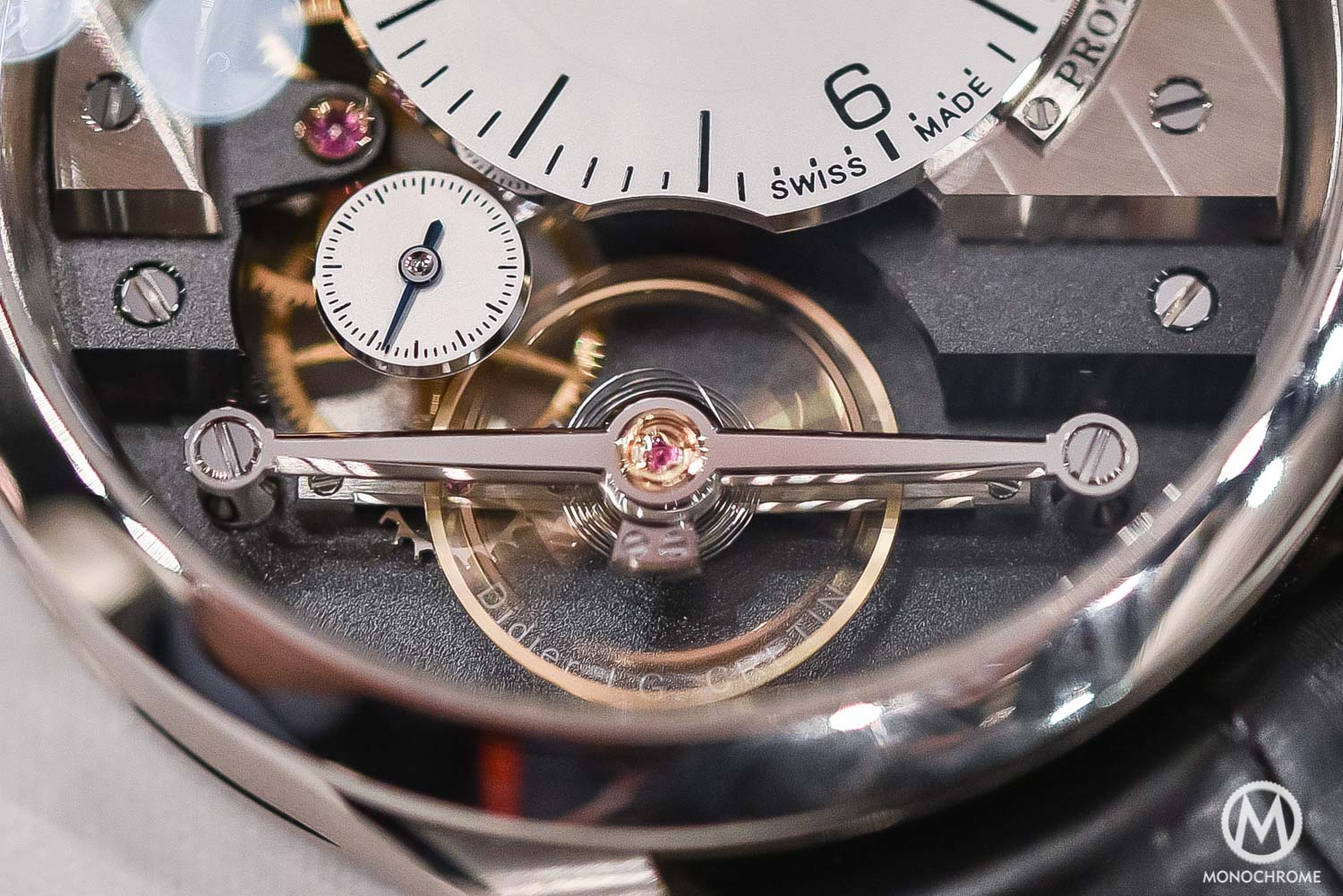 Greubel Forsey Signature 1 - Stainless steel entry level - SIHH 2016 - macro