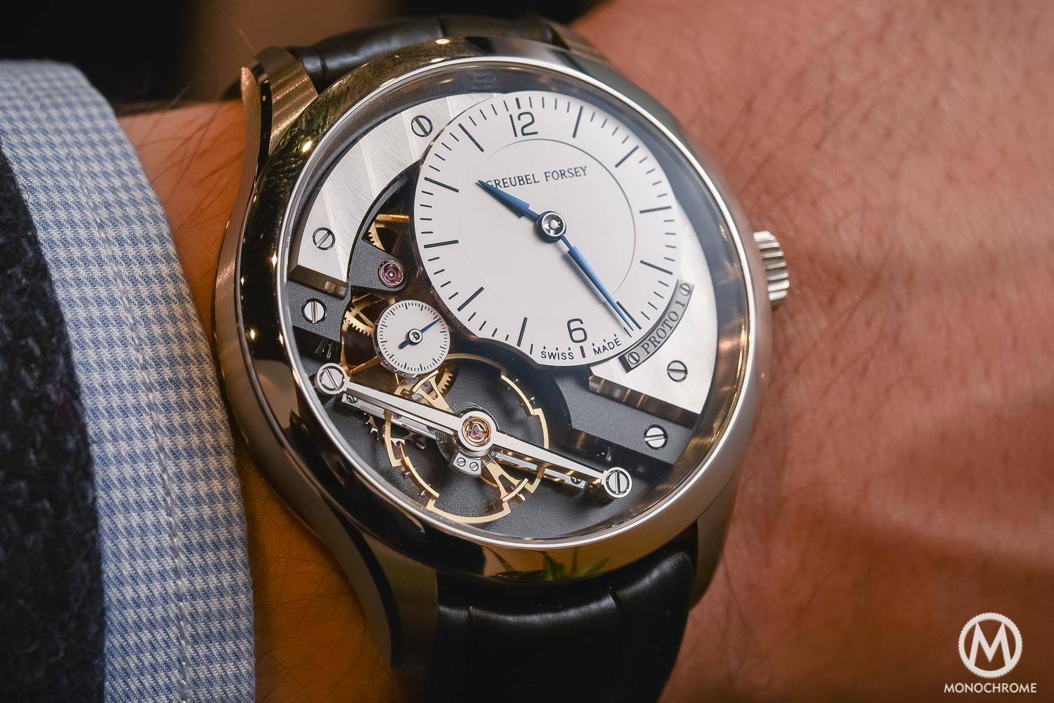 Greubel Forsey Signature 1 - Stainless steel entry level - SIHH 2016 - wristshot