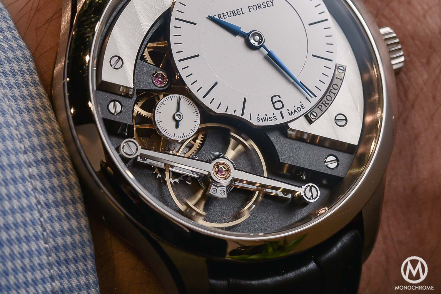 Greubel Forsey Signature 1 - Stainless steel entry level - SIHH 2016 - close up balance wheel