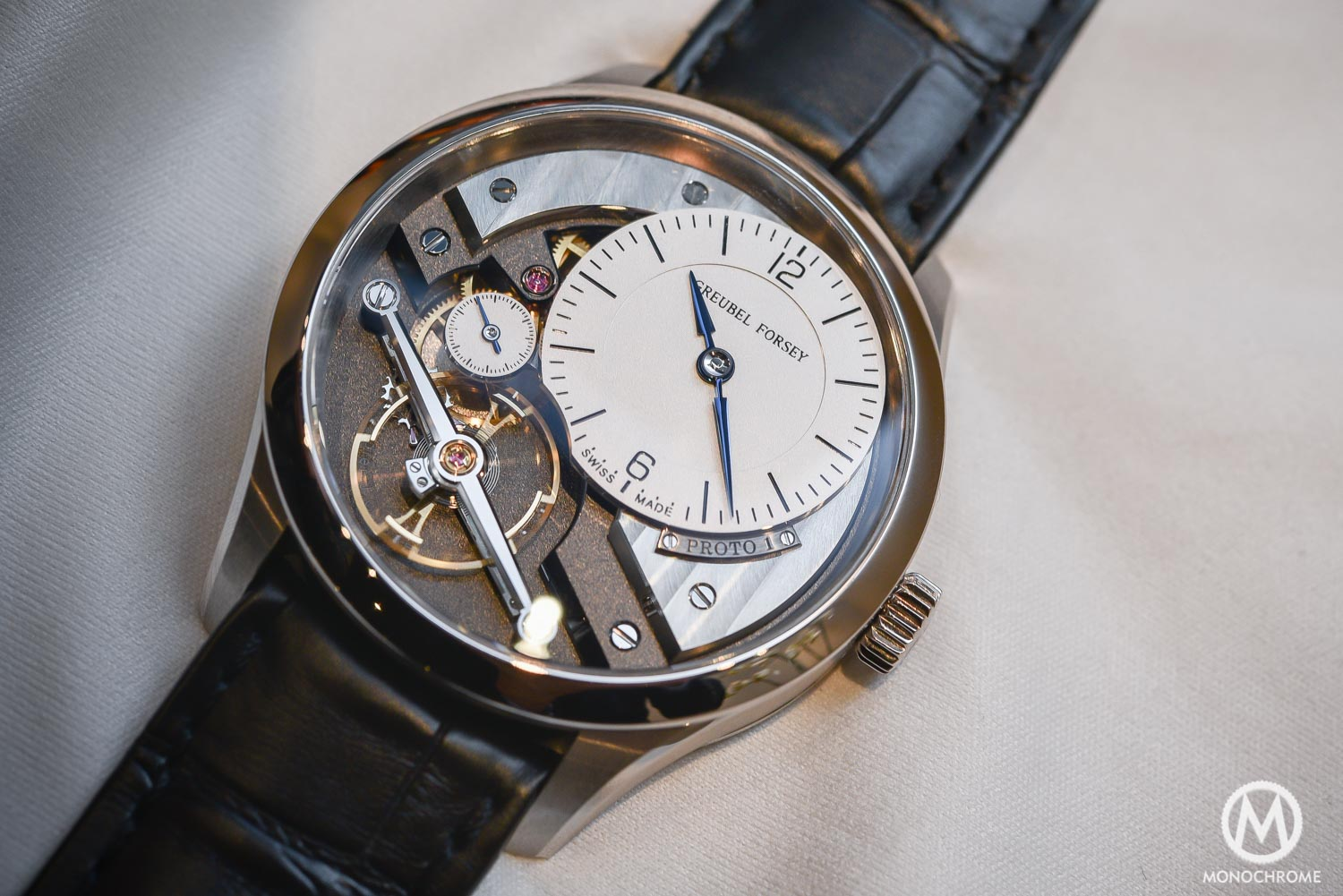 Greubel Forsey Signature 1 - Stainless steel entry level - SIHH 2016 - dial