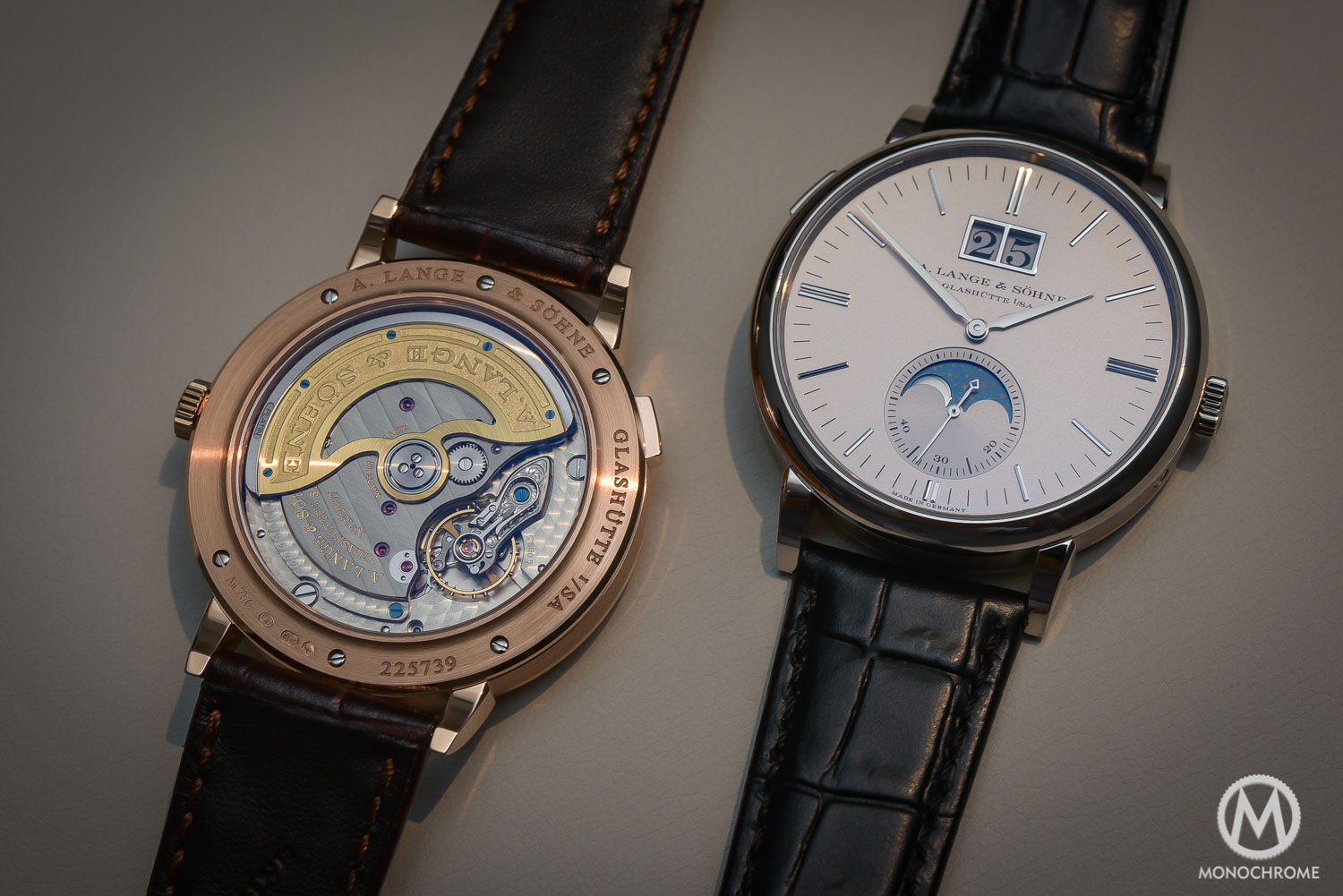 Lange Sohne Saxonia Moon Phase Automatic outisze date SIHH 2016 - _0596