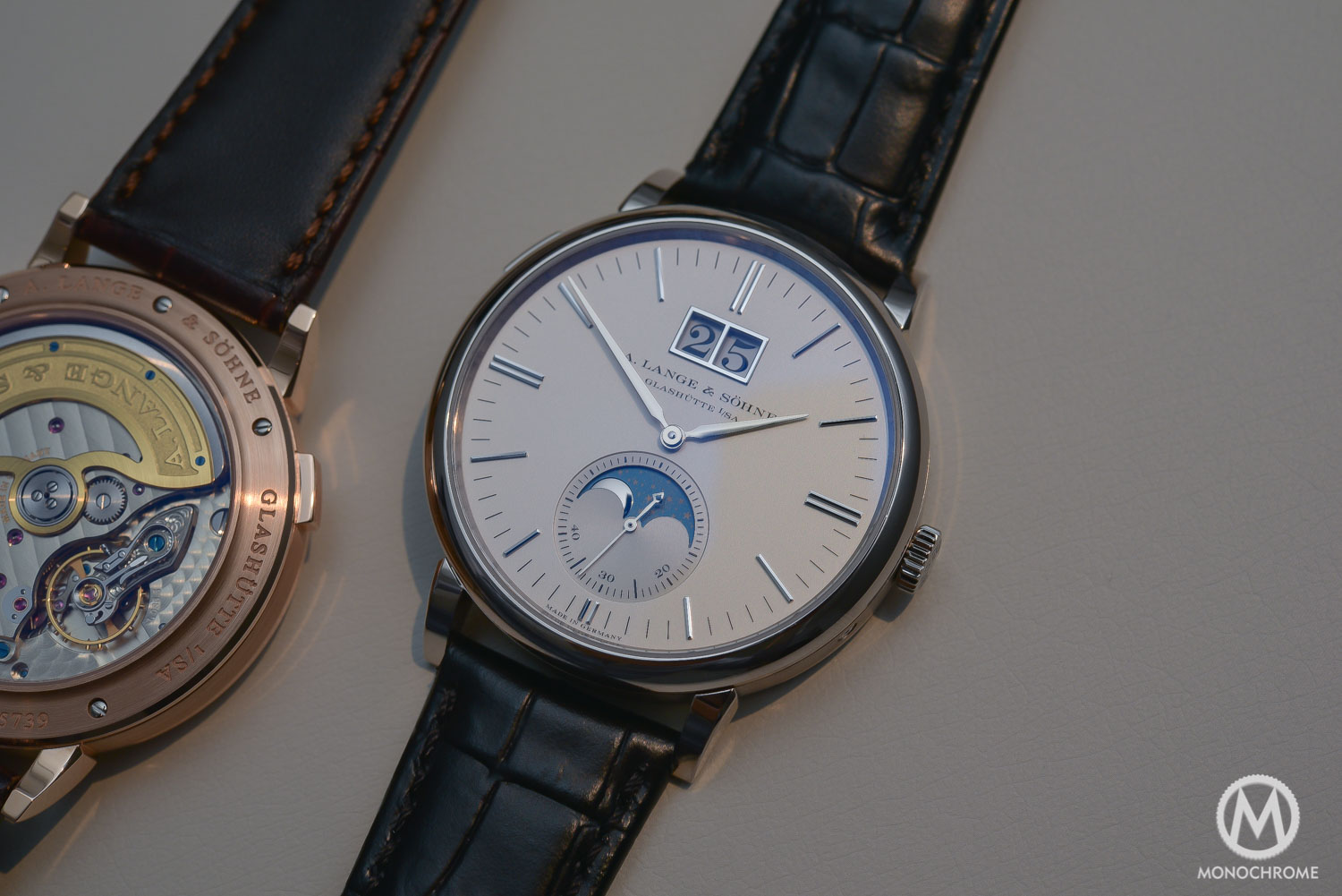 Lange Sohne Saxonia Moon Phase Automatic outisze date SIHH 2016 - _0598