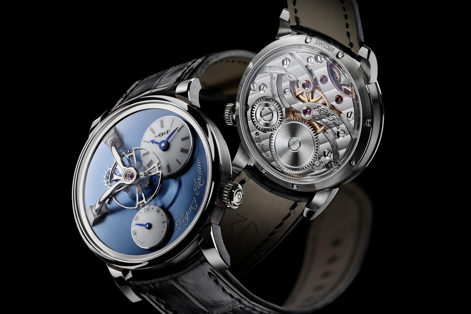 MBandF Legacy Machine LM101 Platinum Blue Dial - 1