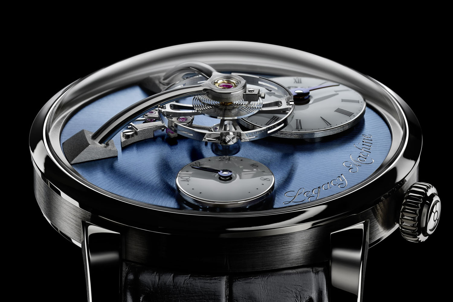 MBandF Legacy Machine LM101 Platinum Blue Dial - 3