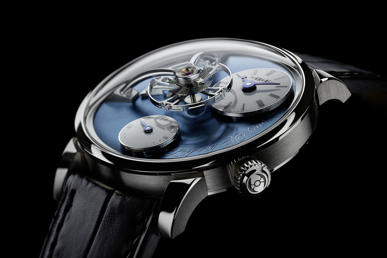 MBandF Legacy Machine LM101 Platinum Blue Dial - 5