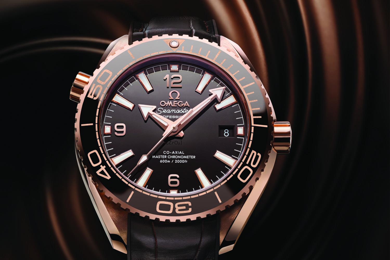 Omega Seamaster Planet Ocean 600m Master Chronometer 39.5mm Sedna Gold brown dial - baselworld 2016 - ref. 215.63.40.20.13.001