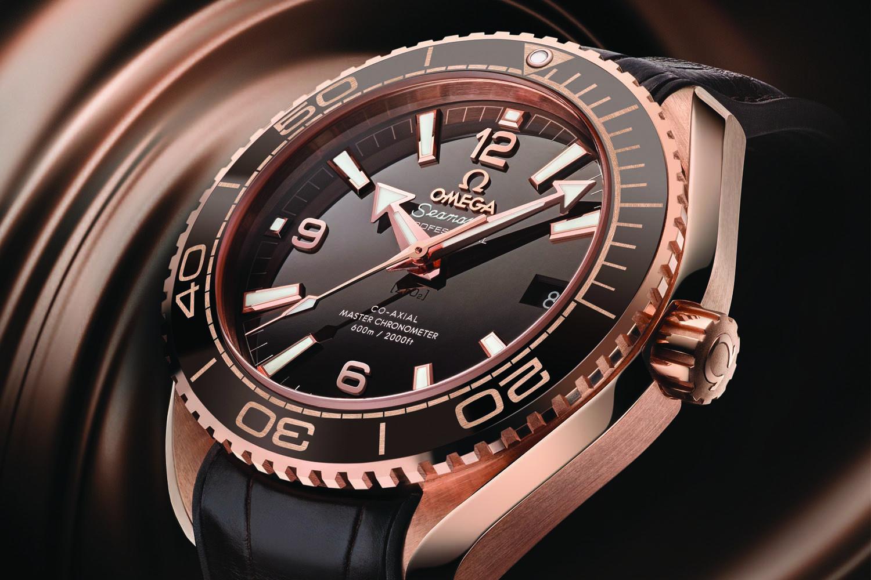 890f8bbcb8e Omega Seamaster Planet Ocean 600m Master Chronometer 39.5mm Sedna Gold  brown dial - baselworld 2016