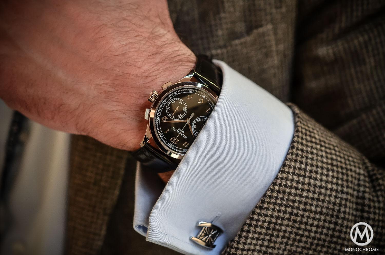 Patek Philippe 5170g-010 Chronograph - review - lifestyle wristshot