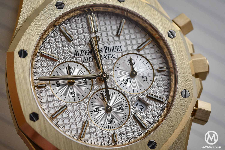 Audemars Piguet Royal Oak Chronograph 26320 yellow gold white dial - SIHH 2016