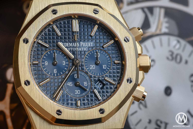 Audemars Piguet Royal Oak Chronograph 26320 yellow gold blue dial - SIHH 2016