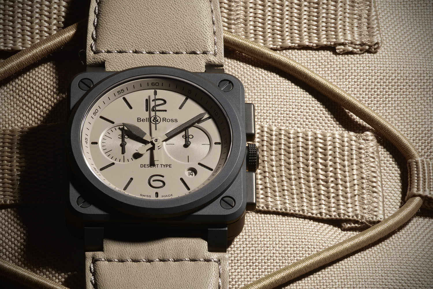 Bell & Ross BR03 94 Chronograph Desert Type Ceramic Sandwich dial Military - Pre-Baselworld 2016