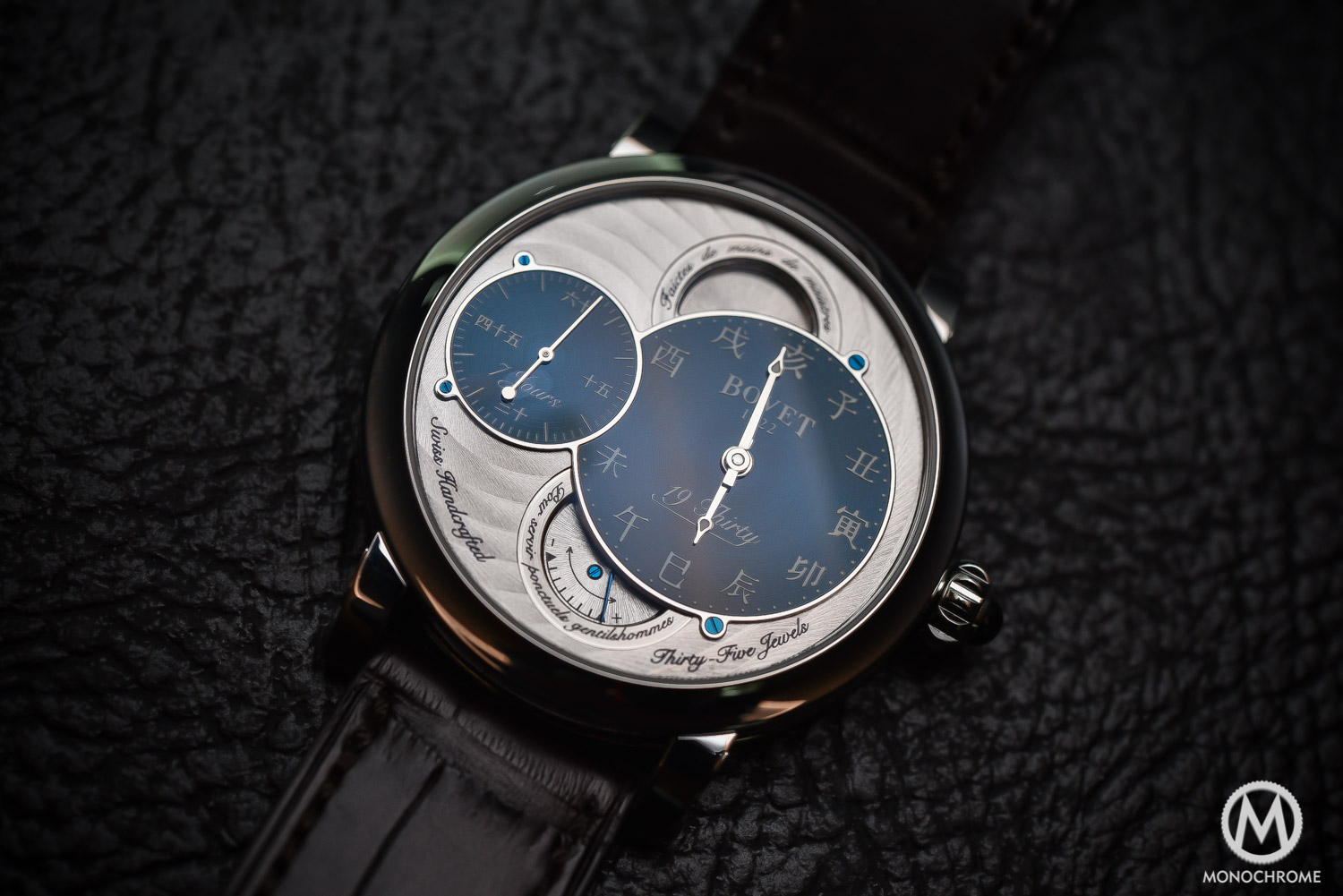 Bovet 19Thirty Dimier blue dial chinese numerals - 1
