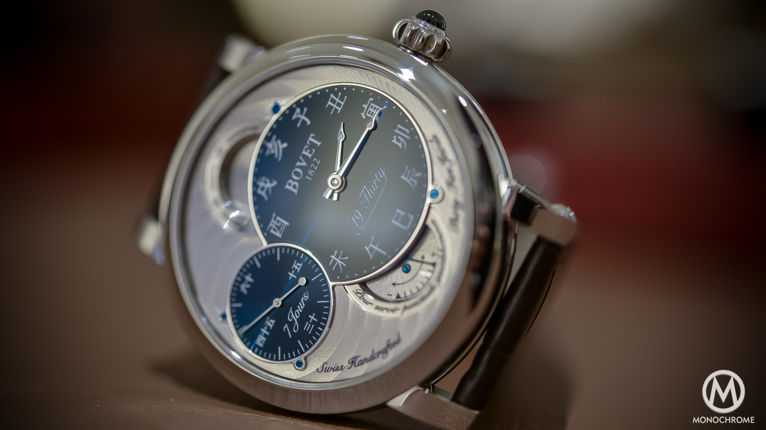 Bovet 19Thirty Dimier blue dial chinese numerals - 10