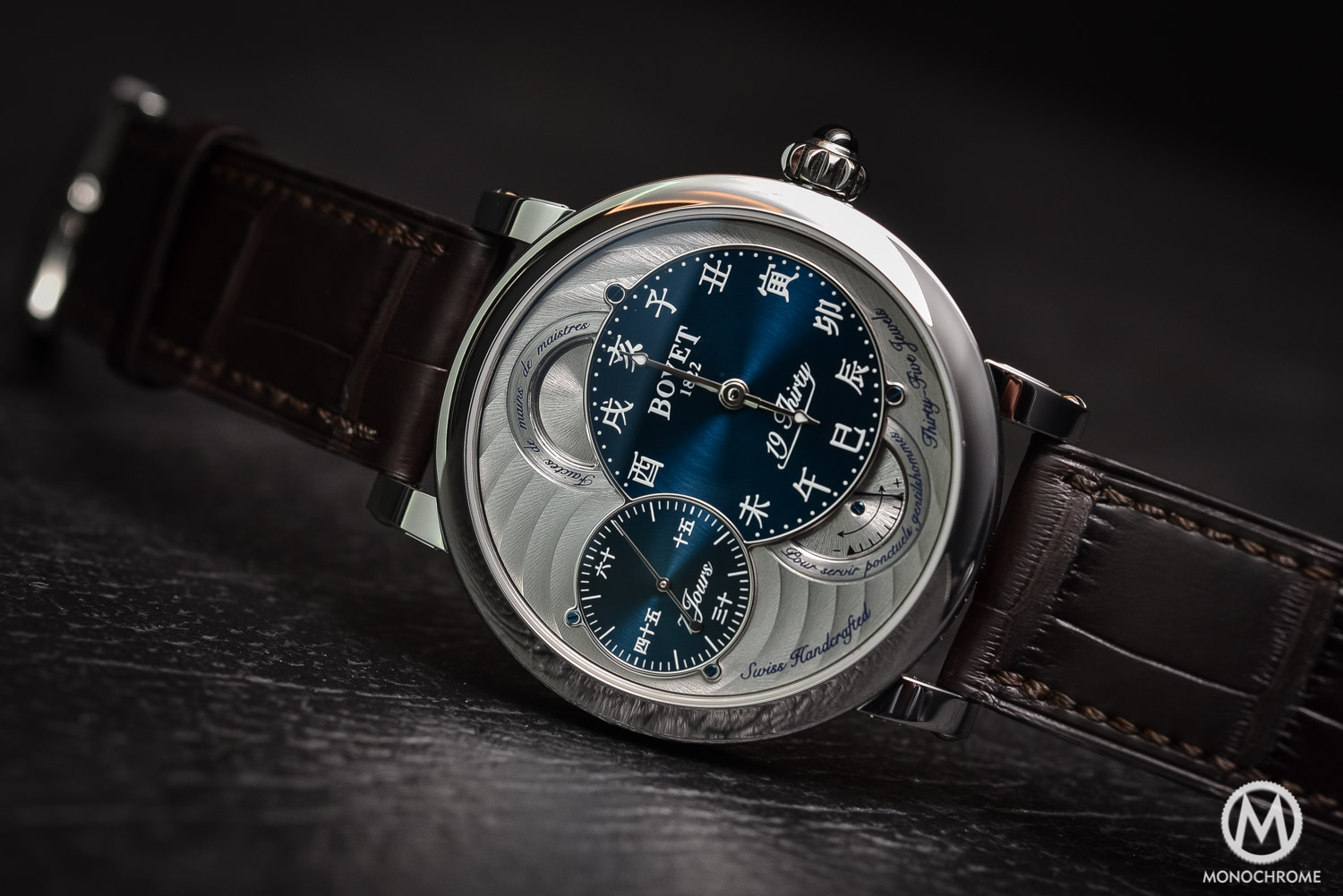 Bovet 19Thirty Dimier blue dial chinese numerals - 2