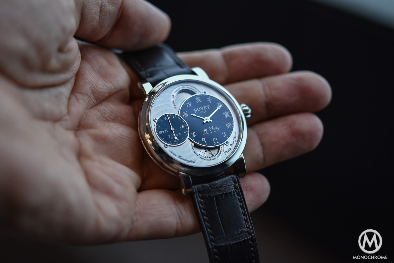 Bovet 19Thirty Dimier blue dial chinese numerals - 4