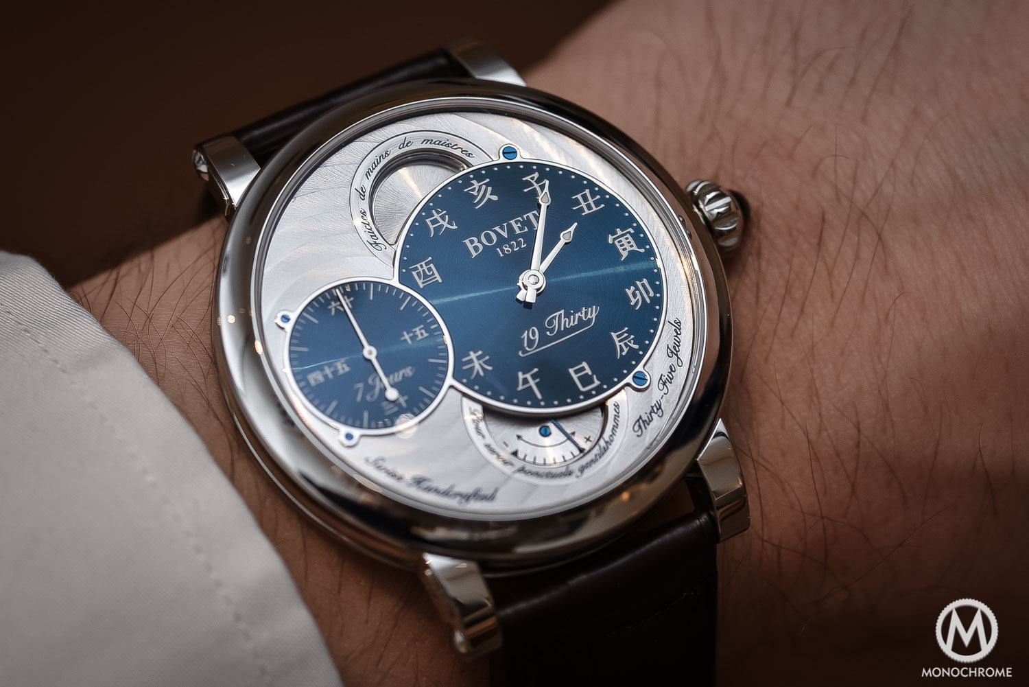 Bovet 19Thirty Dimier blue dial chinese numerals - 5