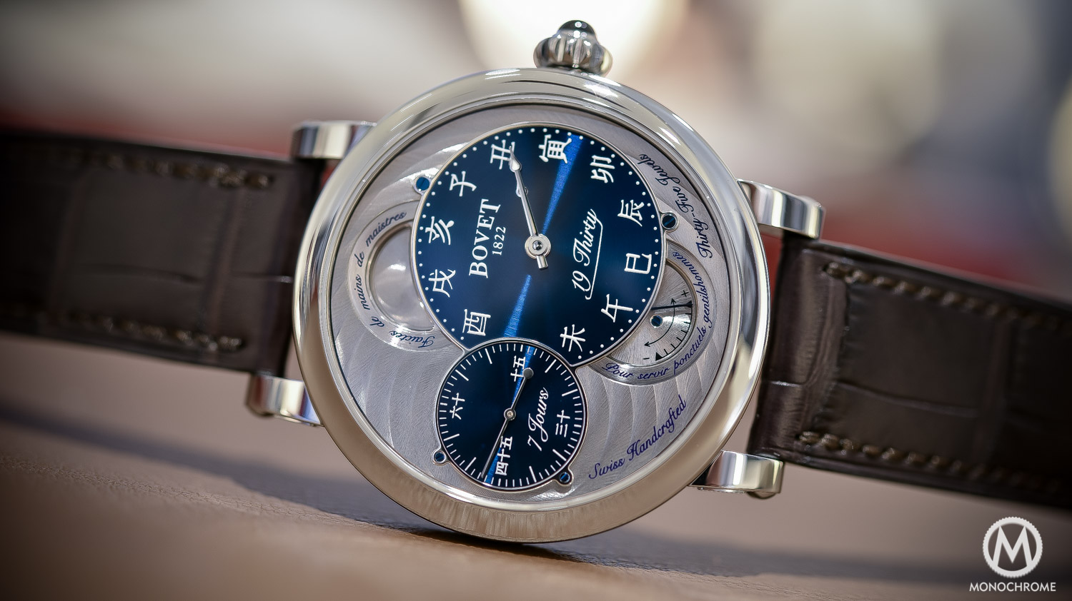 Bovet 19Thirty Dimier blue dial chinese numerals - 7
