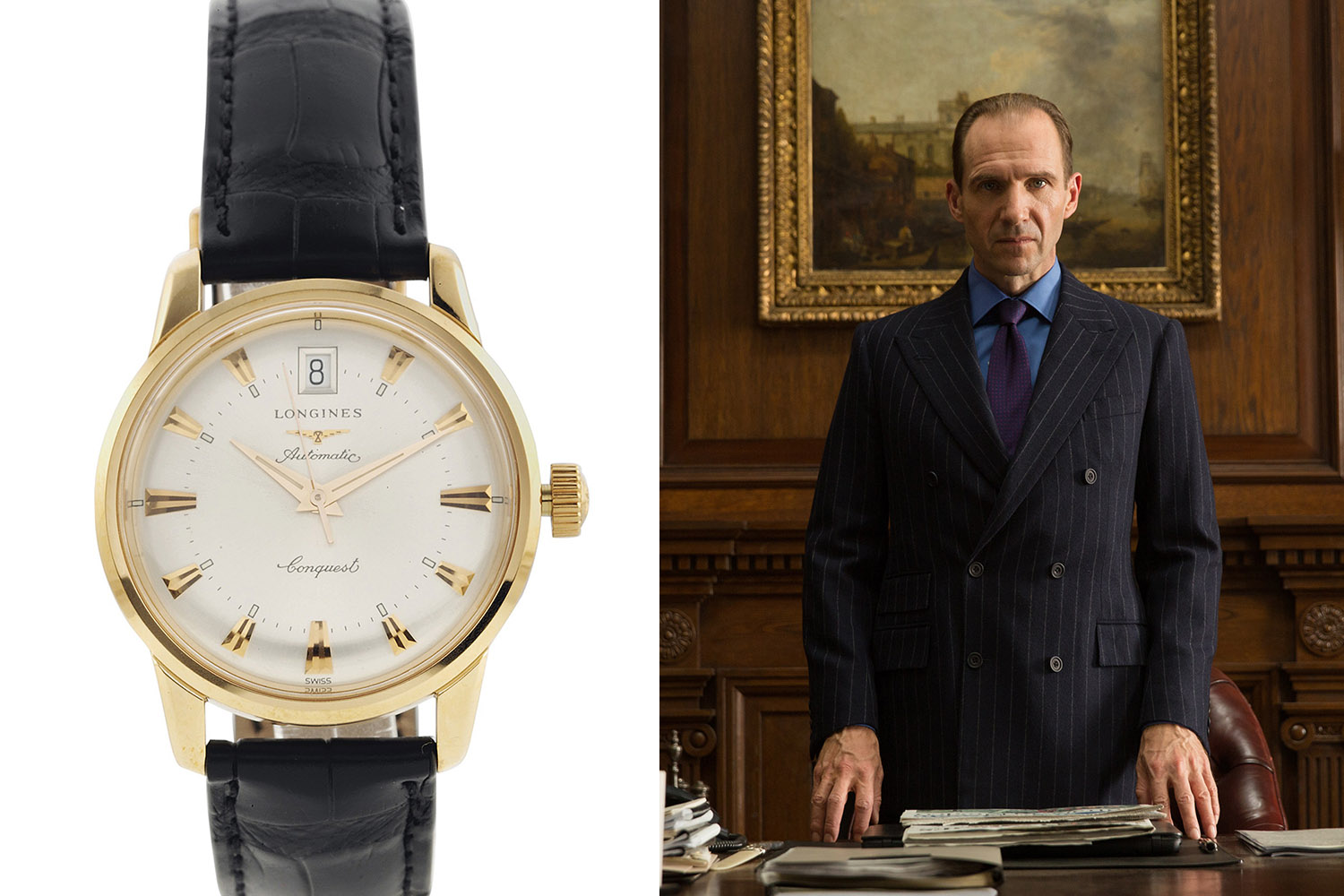 Christie's James Bond Spectre Auction - Longines Conquest Heritage rose gold worn by Ralph Fiennes as M