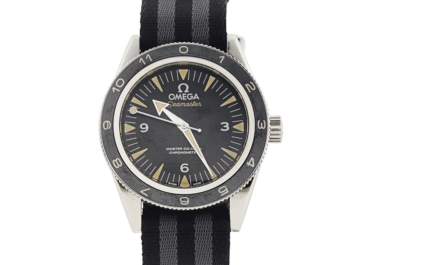 Christie's James Bond Spectre Auction - Prototype one of eight Omega Seamaster 300 worn by Daniel Craig as James Bond