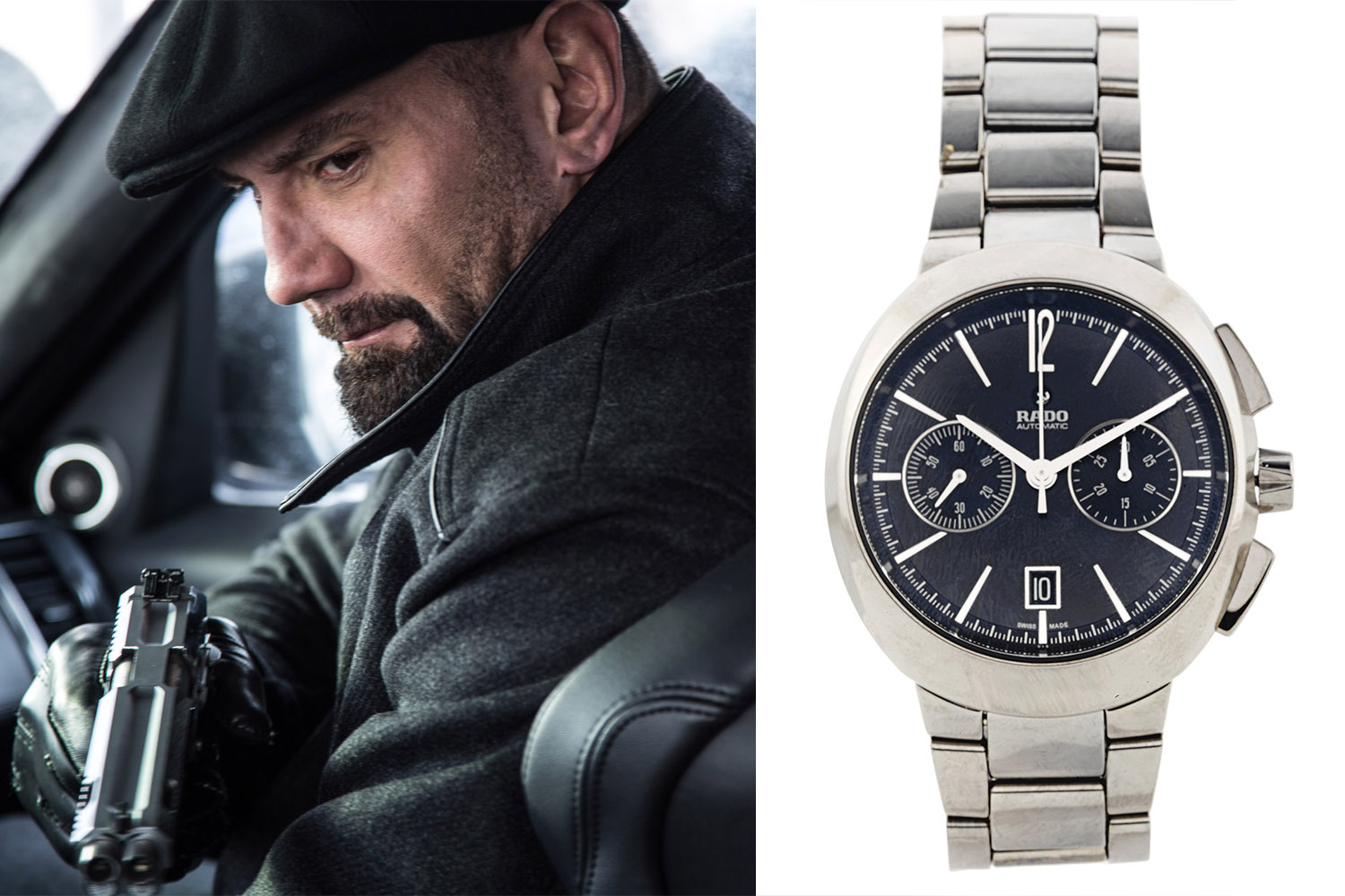 Christie's James Bond Spectre Auction - ceramic Rado D-Star automatic chronograph Dave Bautista Hinx