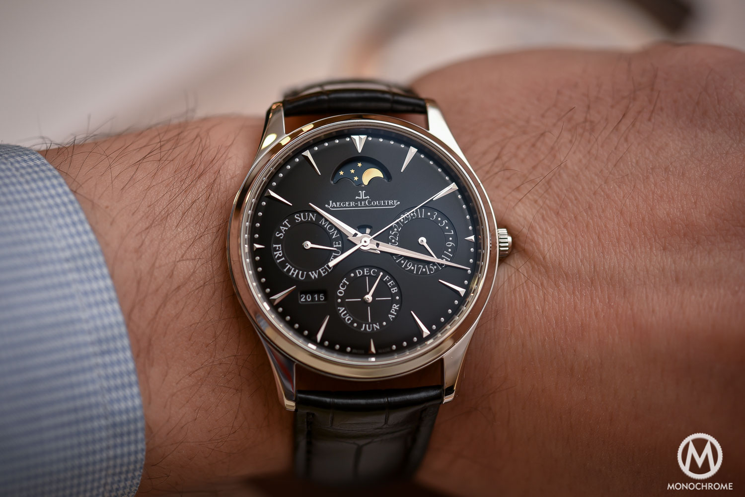 Jaeger-LeCoultre Master Ultra Thin Perpetual steel black dial - SIHH 2016