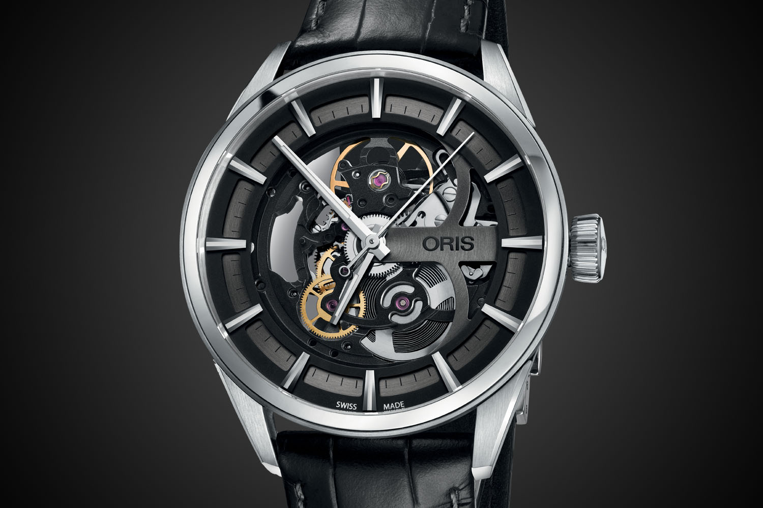 Oris Artix Skeleton Automatic - leather strap