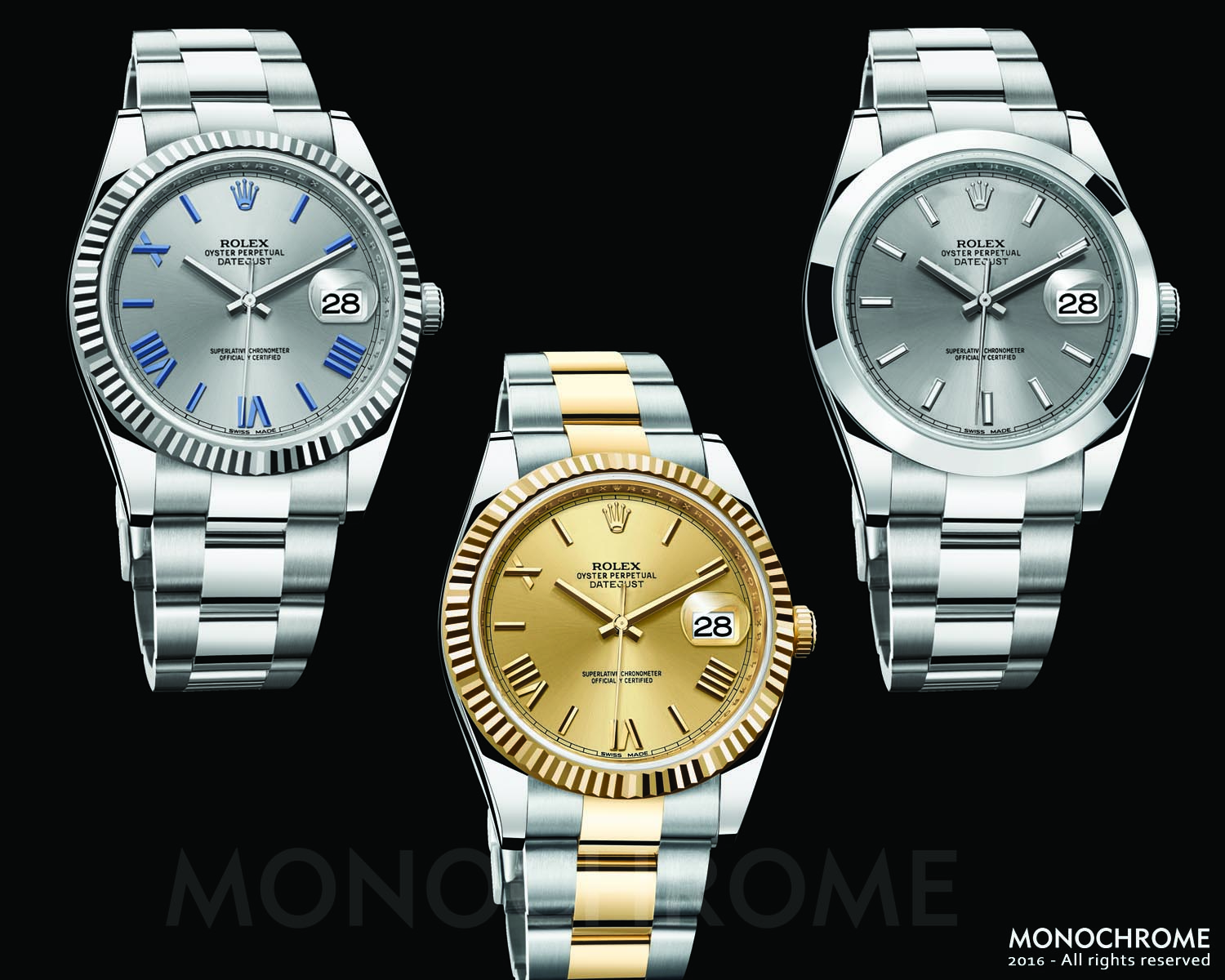 Rolex DateJust 40 Collection 2016 - Rolex Baselworld 2016 - Rolex Predictions 2016 - Monochrome
