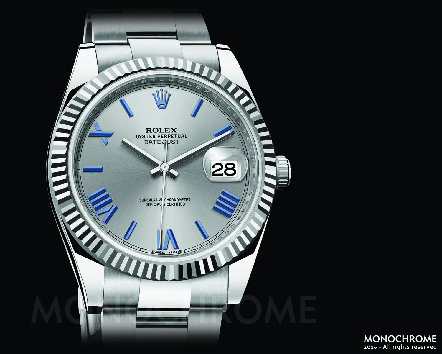 Rolex DateJust 40 stainless steel white gold bezel fluted - Rolex Baselworld 2016 - Rolex Predictions 2016 - Monochrome