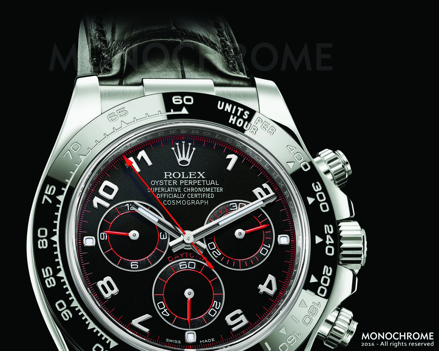 Rolex Daytona 116519LN White Gold Ceramic bezel leather strap - Rolex Baselworld 2016 - Rolex Predictions 2016 - Monochrome