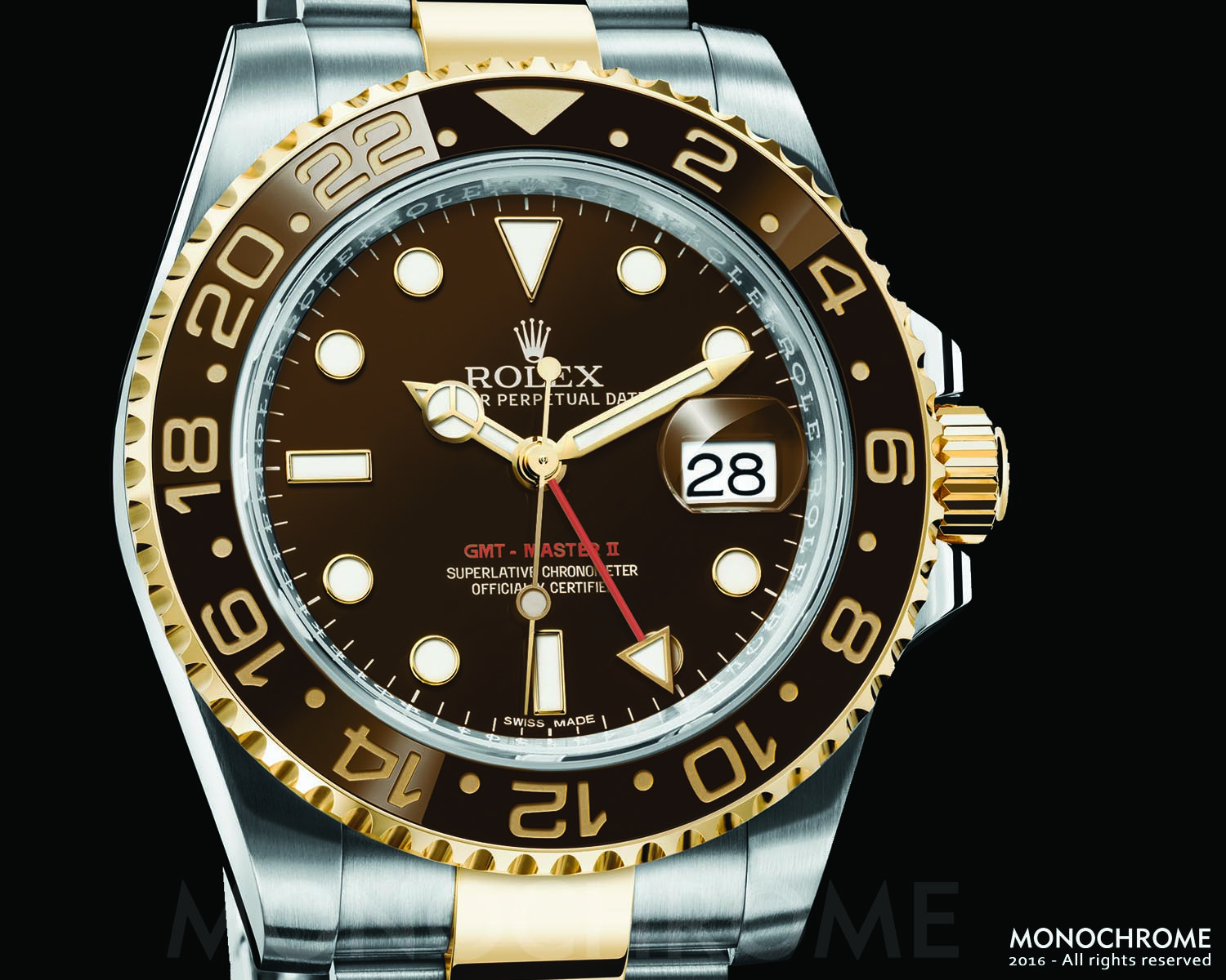 Rolex GMT-Master II Two Tone Root Beer - Rolex Baselworld 2016 - Rolex Predictions 2016 - Monochrome