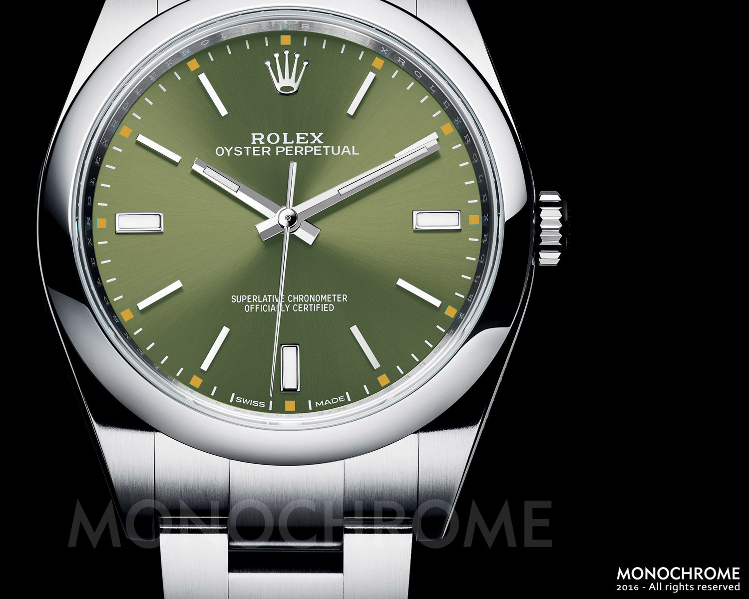 Rolex Oyster Perpetual 39 114300 olive green - Rolex Baselworld 2016 - Rolex Predictions 2016 - Monochrome