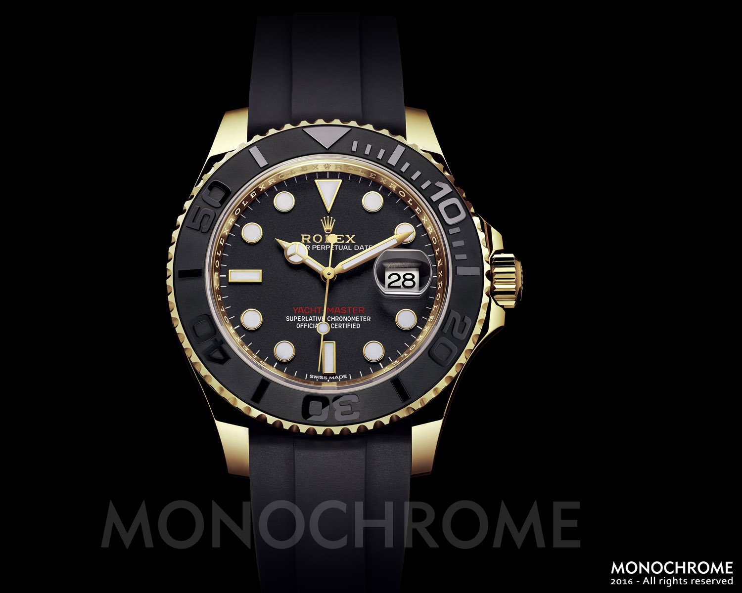 Rolex Yacht-Master 40 Yellow Gold ceramic rubber - Rolex Baselworld 2016 - Rolex Predictions 2016 - Monochrome