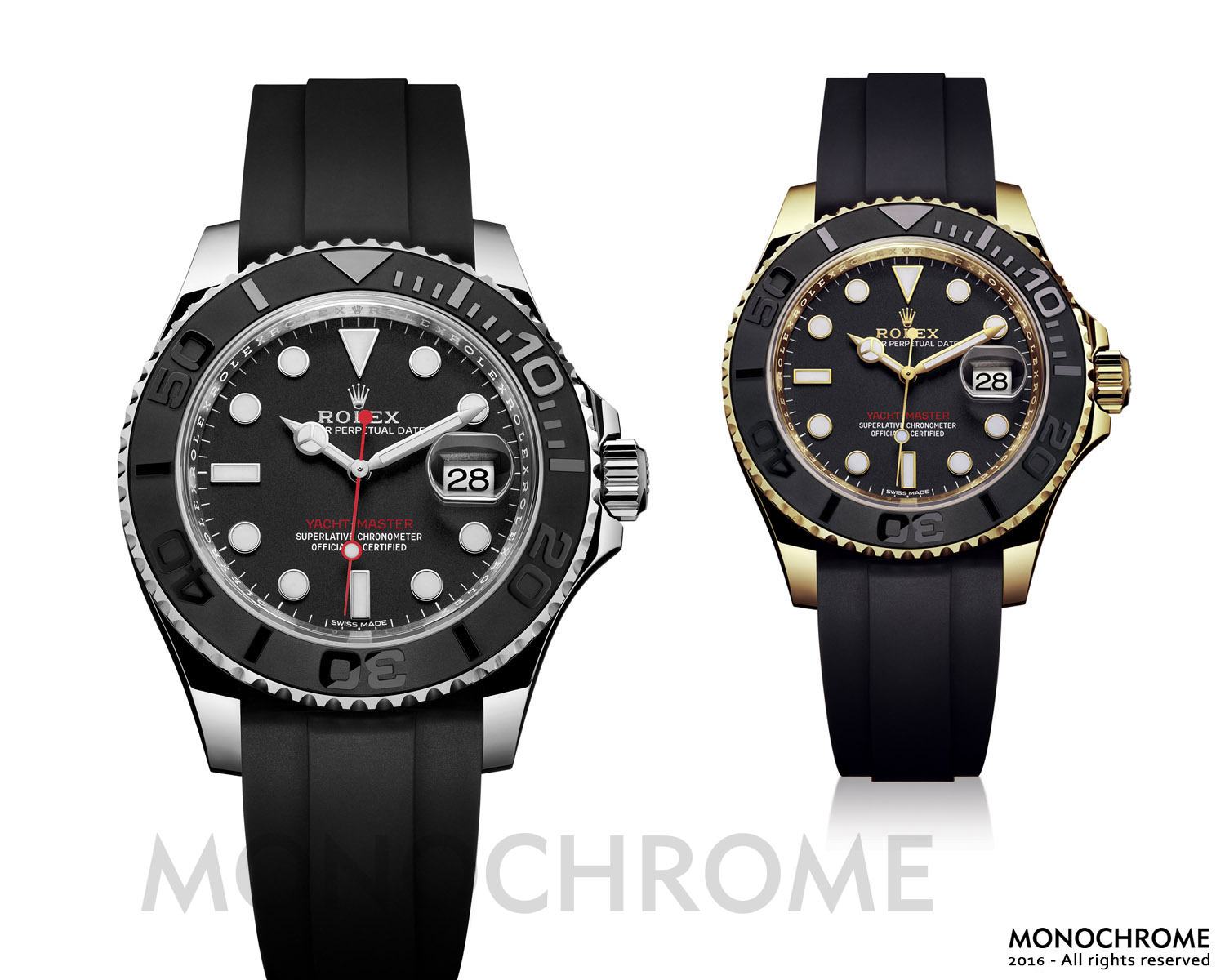 Rolex Yacht-Master 40 ceramic rubber new collection - Rolex Baselworld 2016 - Rolex Predictions 2016 - Monochrome