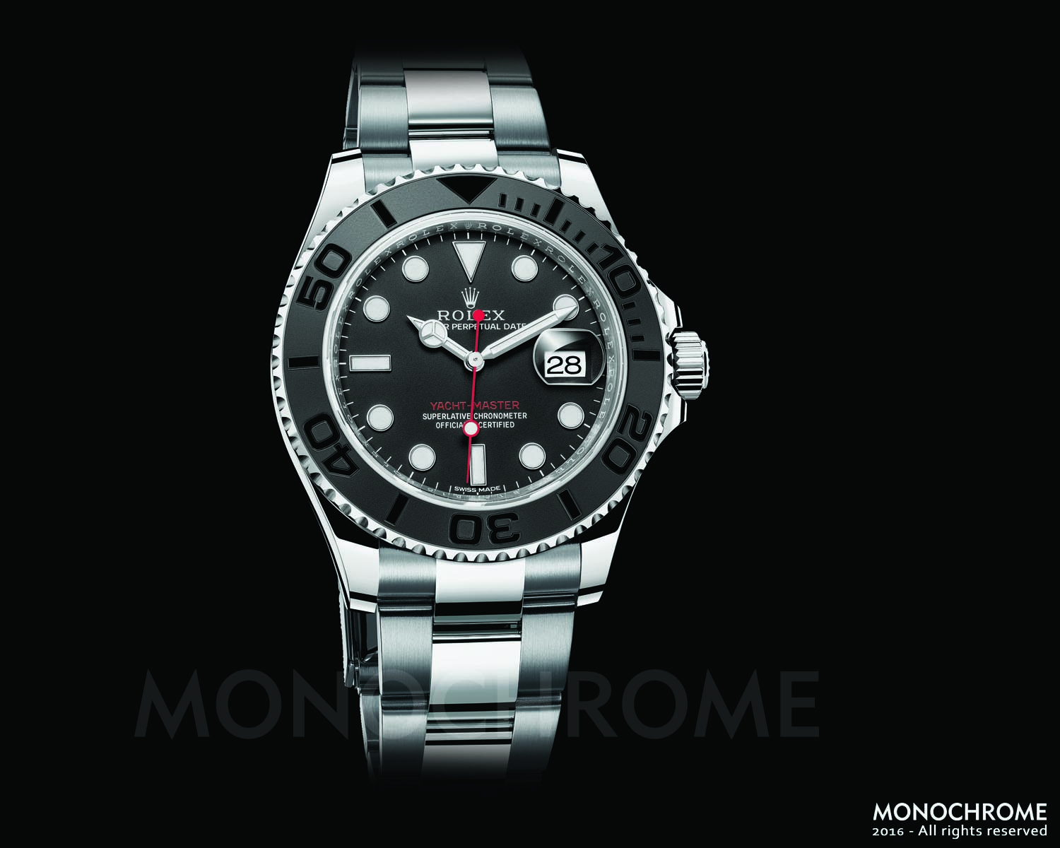 Rolex Yacht-Master 40 stainless steel ceramic oyster bracelet - Rolex Baselworld 2016 - Rolex Predictions 2016 - Monochrome